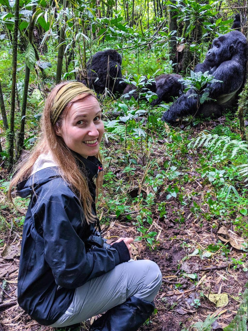 Me and the mountain gorillas in Rwanda
