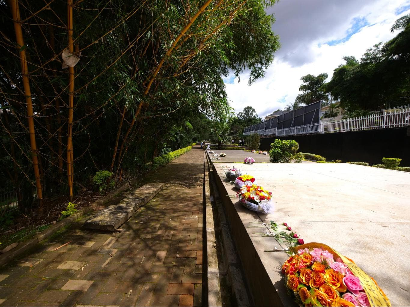 The gardens and Genocide Memorial