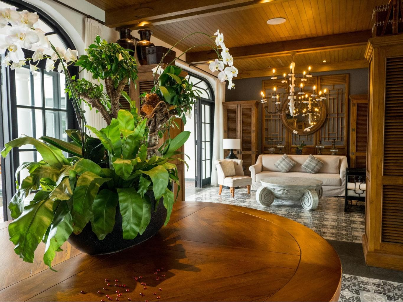 The reception area at The Sanchaya