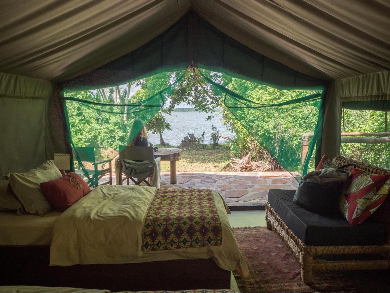 The tents at Ruzizi Tented Lodge