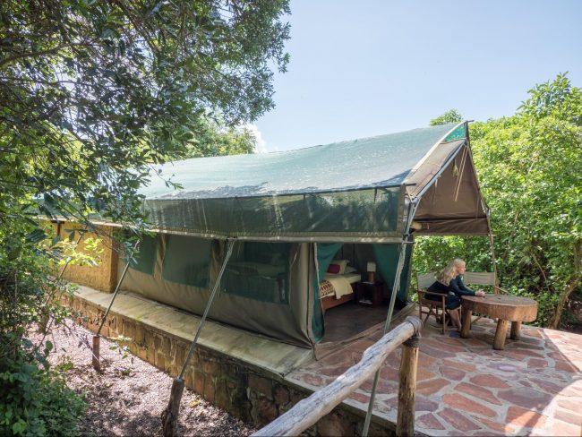 The tents in Ruzizi Tented Lodge