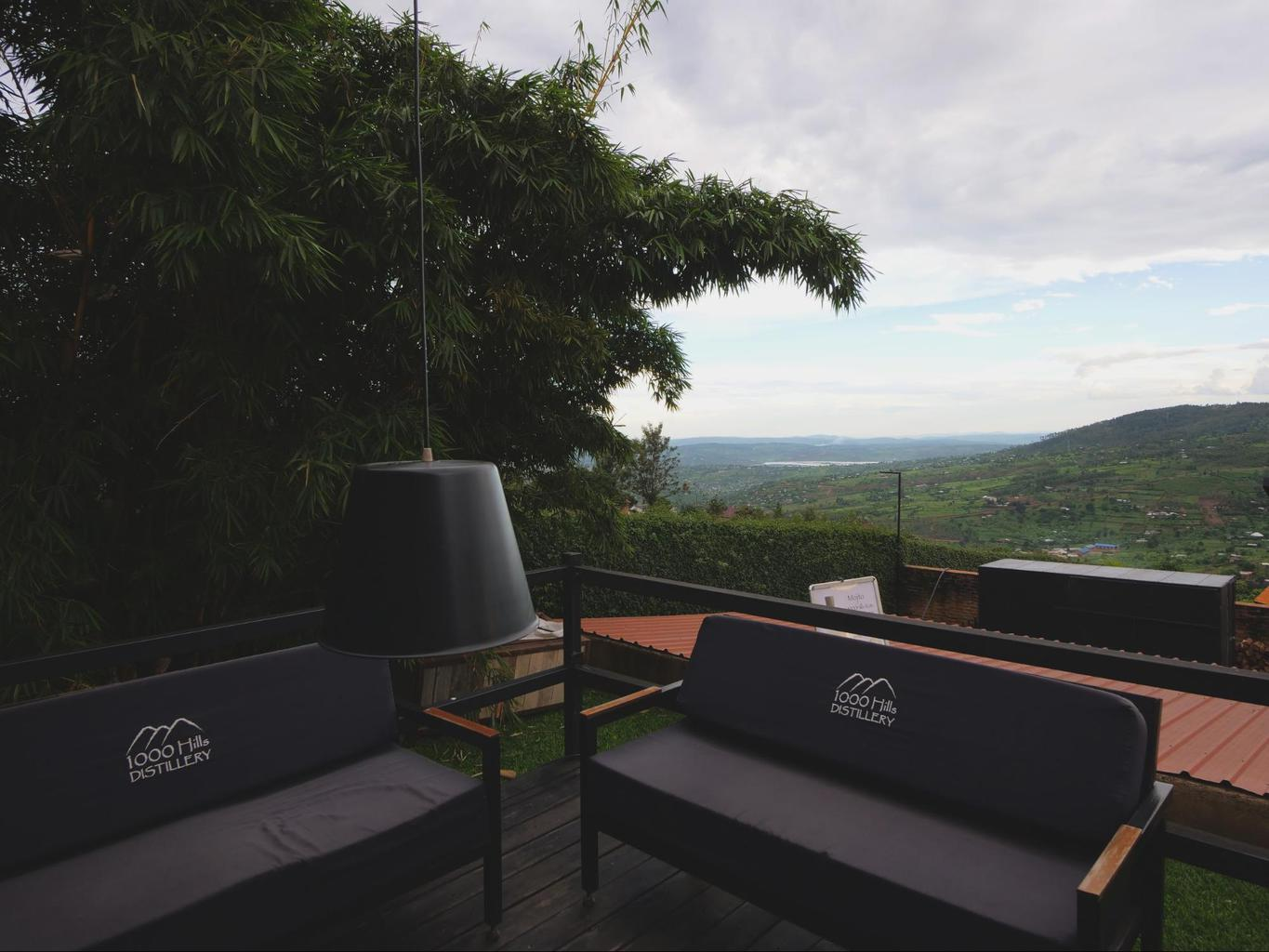 The views from 1000 Hills Distillery