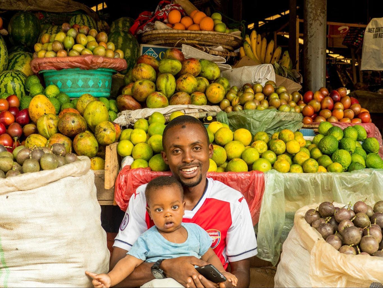 Vegetables and fruits at Kimironko Market