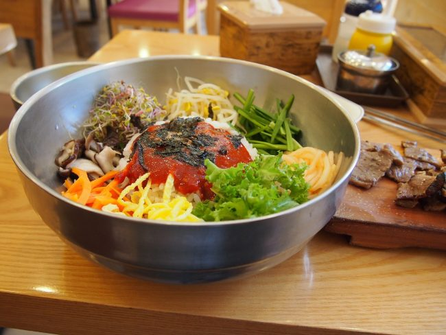 A Korean staple and must try, bibimbap or mix rice
