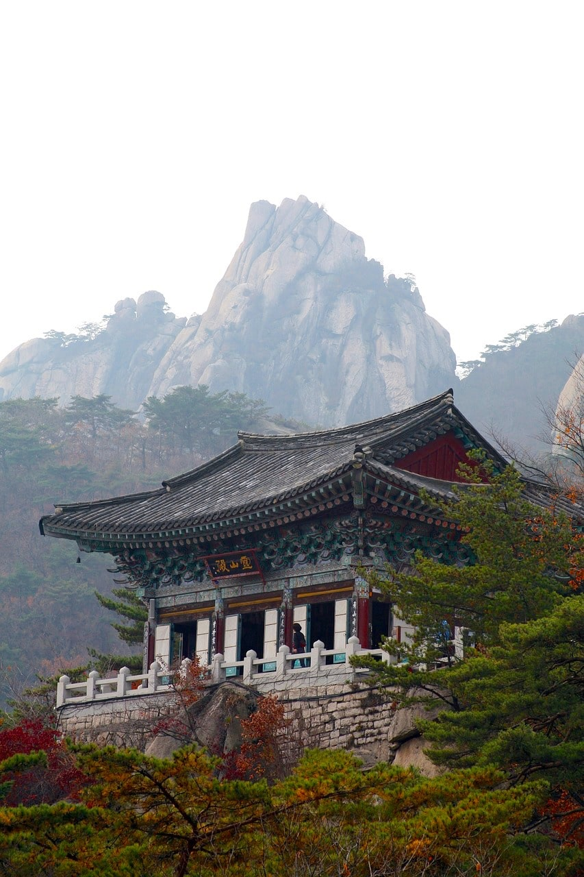 A temple in the Dobong District of Bukhansan