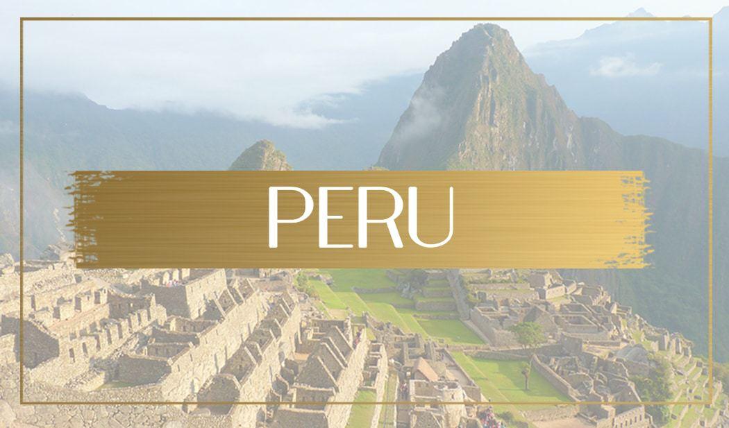 Destination Peru main