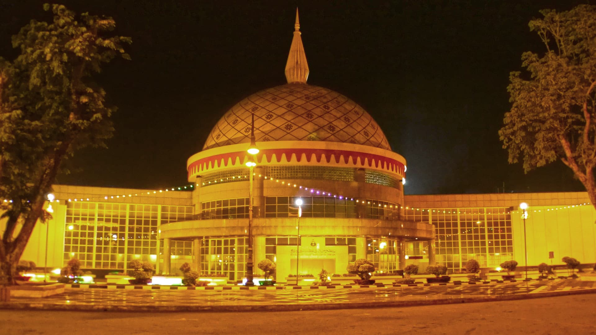 Royal Regalia Museum at night