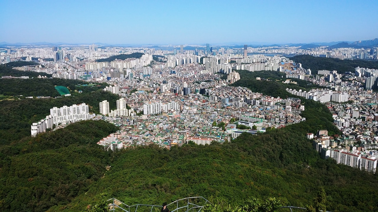 Seoul from Gwanak Mountain