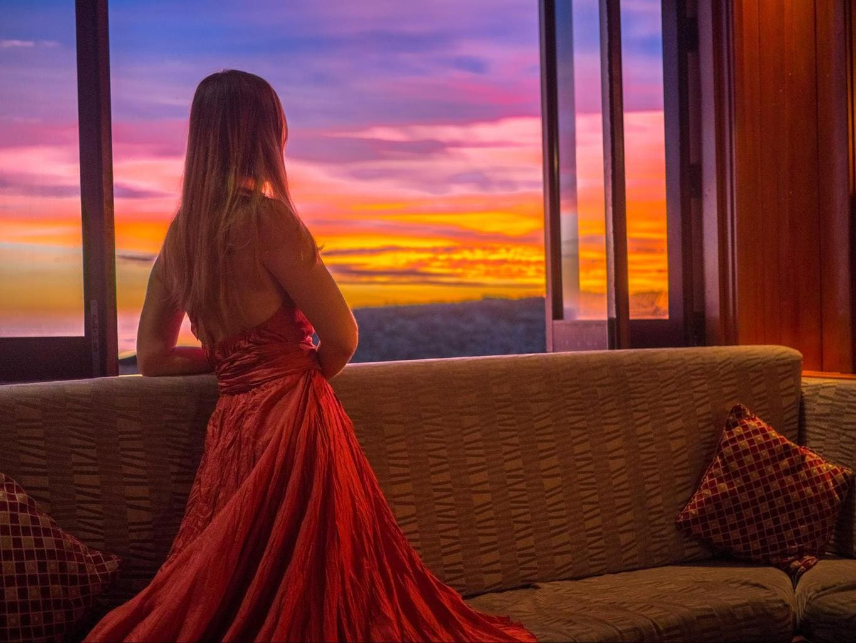 Sunset views from Kalokalo tapas bar