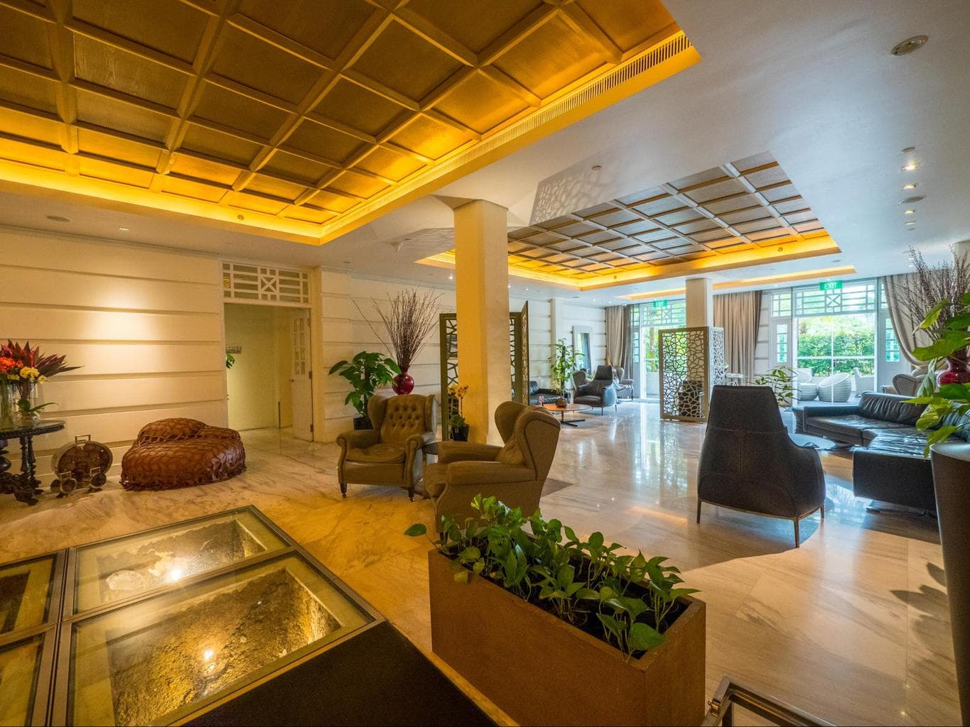 The lobby at Hotel Fort Canning