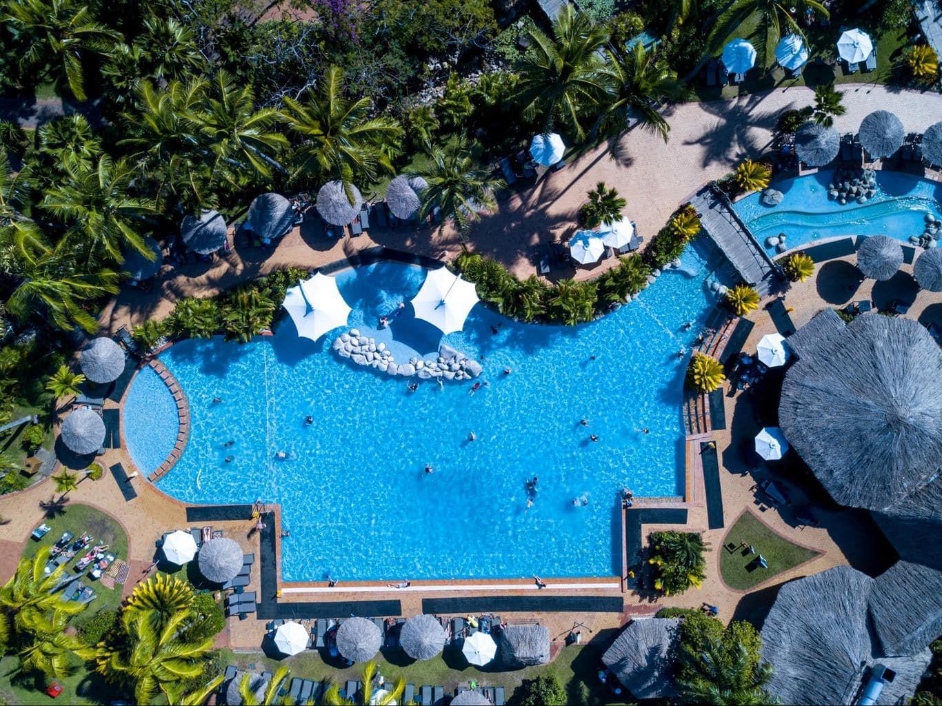 The main pool at Outrigger Fiji Beach Resort