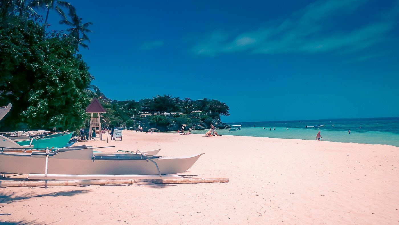Alona Beach in Bohol, Philippines