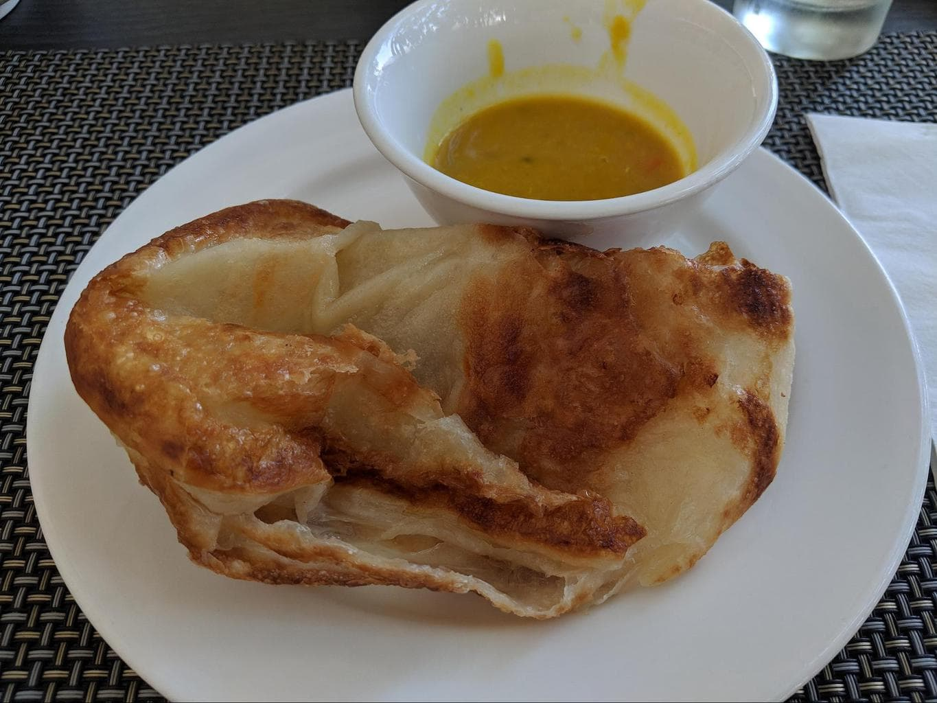 Breakfast parathas at Hotel Fort Canning