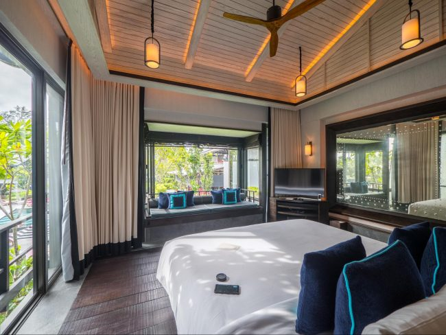 First floor bedroom at the gabanas at Baba Beach Club Phuket