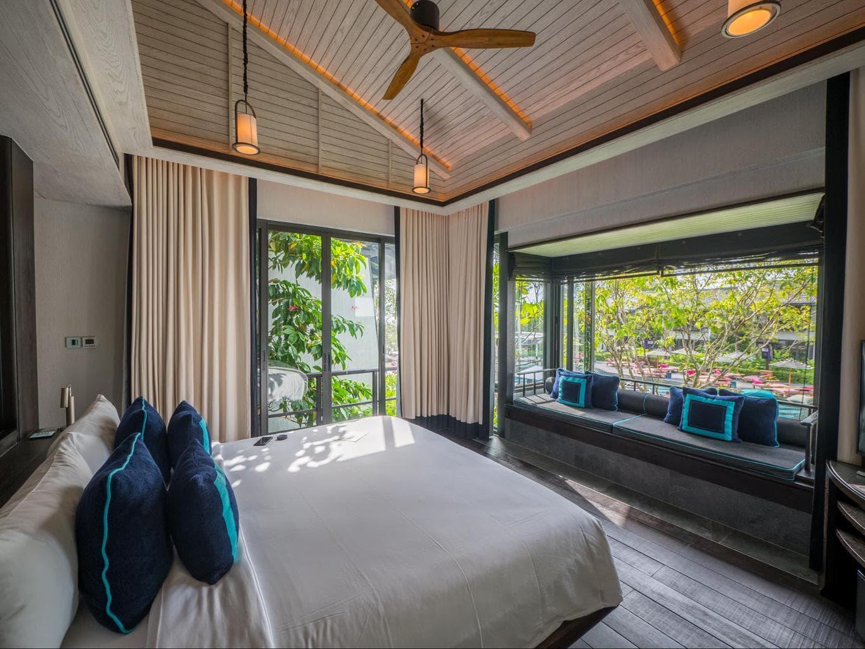 First floor bedroom at the gabanas