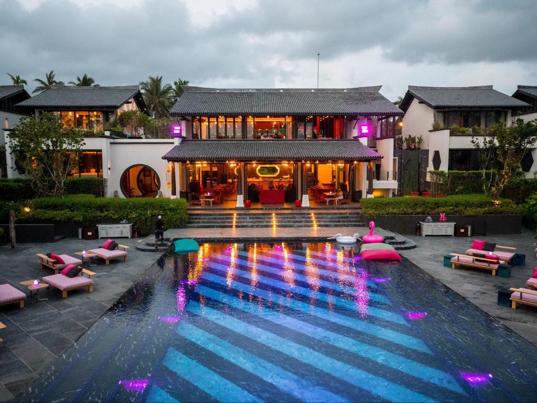 Fun in the pool at Baba Beach Club Phuket