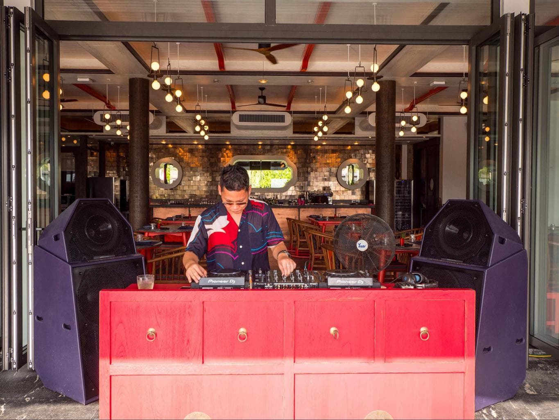 The DJ at Baba Beach Club Phuket