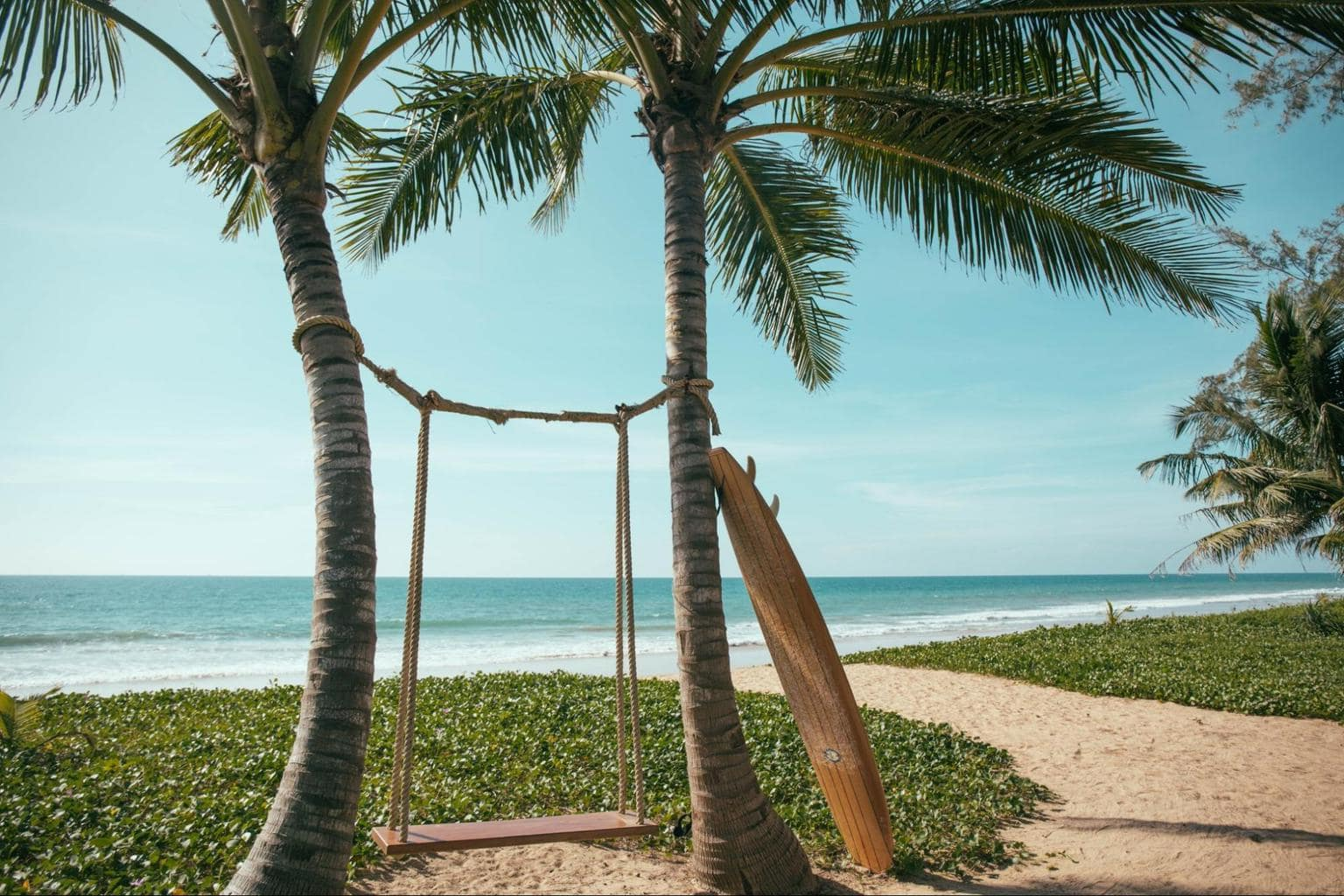 The beach swing at Baba Beach Club - Photo courtesy of Baba Beach Club Phuket