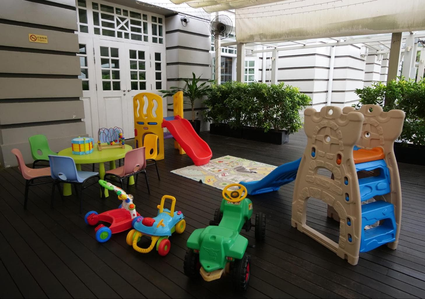 The kids play area at Hotel Fort Canning