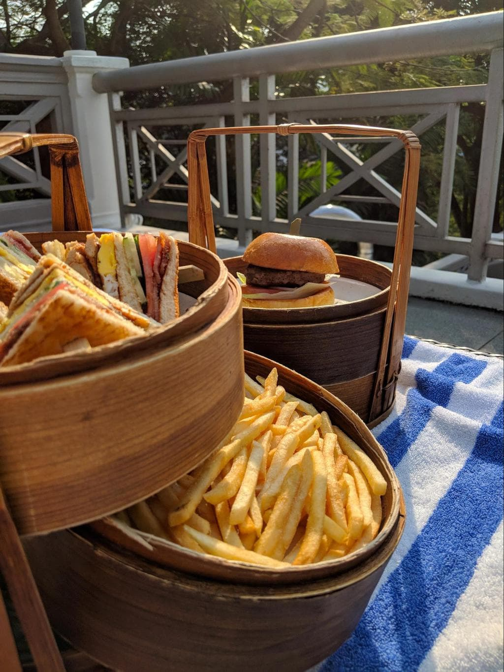 Tiffin style baskets at Hotel Fort Canning