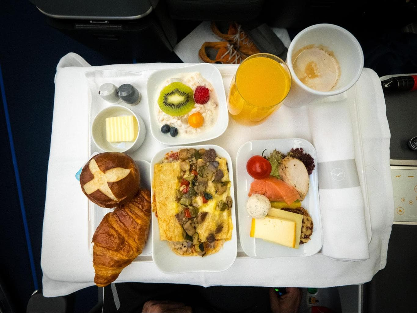 Lufthansa Business Class food - My breakfast