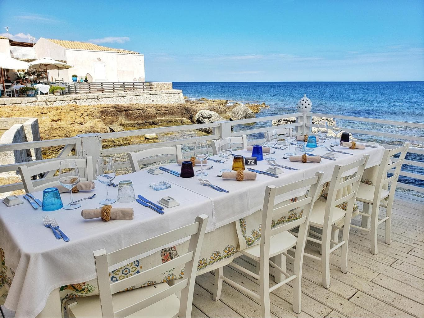 Lunch is ready on the Sicilian coast