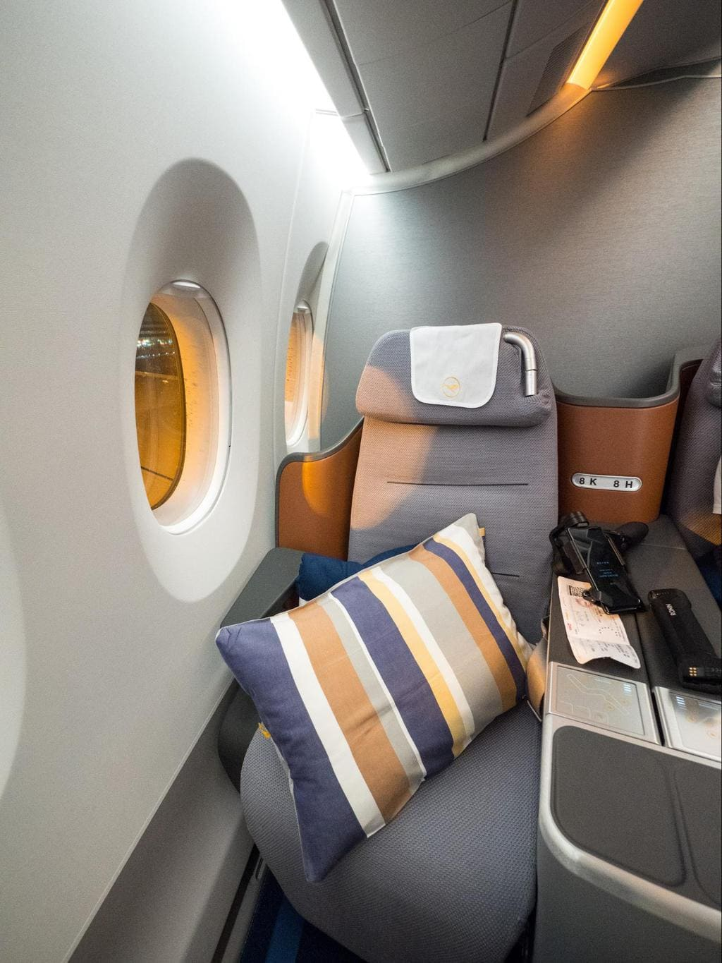 My window seat on Lufthansa Business Class A350
