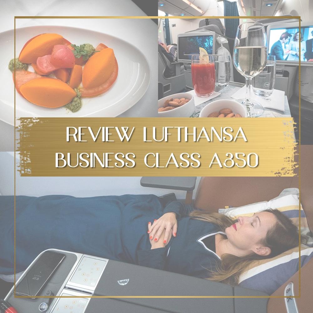 Review Lufthansa Business Class A350 feature
