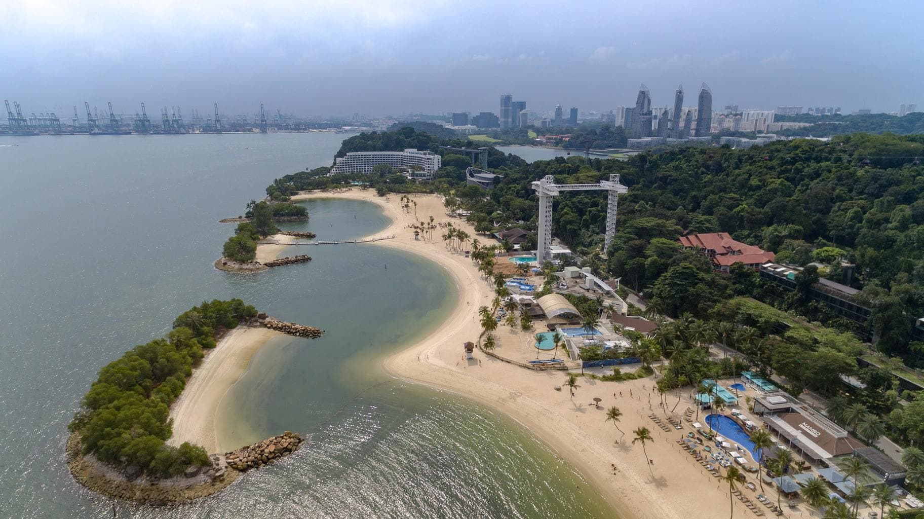 Siloso Beach on Sentosa