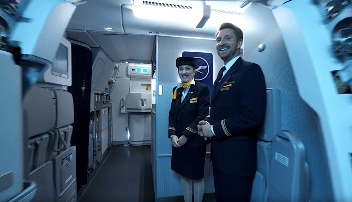 The first and second pursers on my Lufthansa Business Class flight