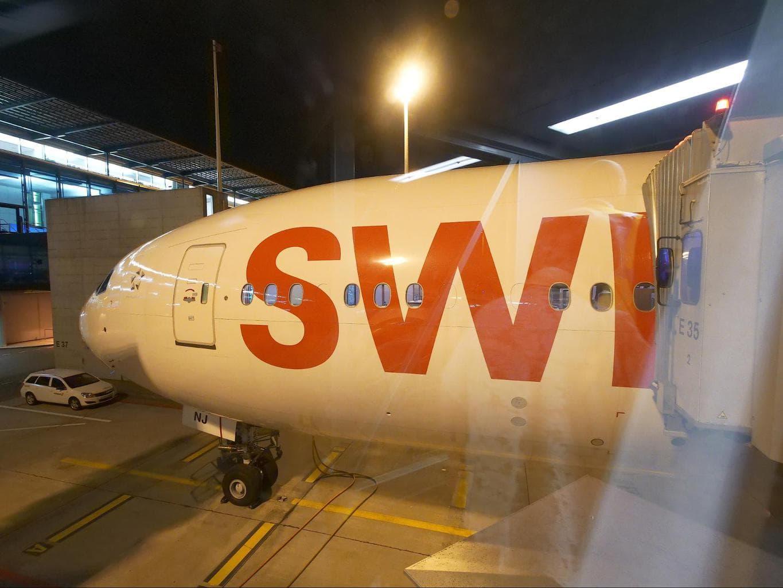 Beautiful Swiss B777-300 aircraft