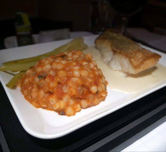Dinner Swiss Business Class 03