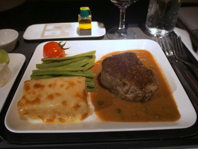 Dinner Swiss Business Class 05