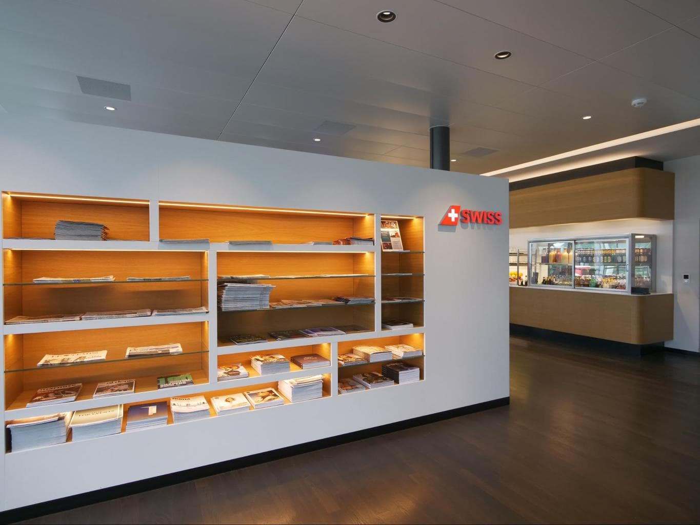 Entrance to Swiss Business Class lounge at Zurich airport