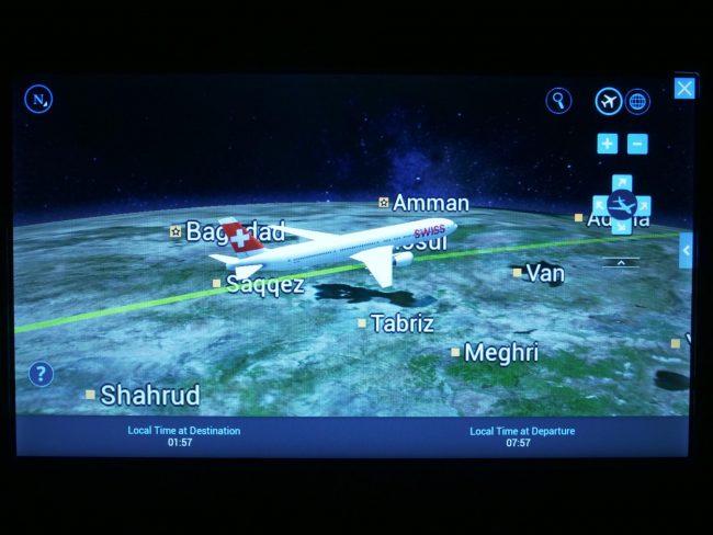 Flight progress on Swiss 03
