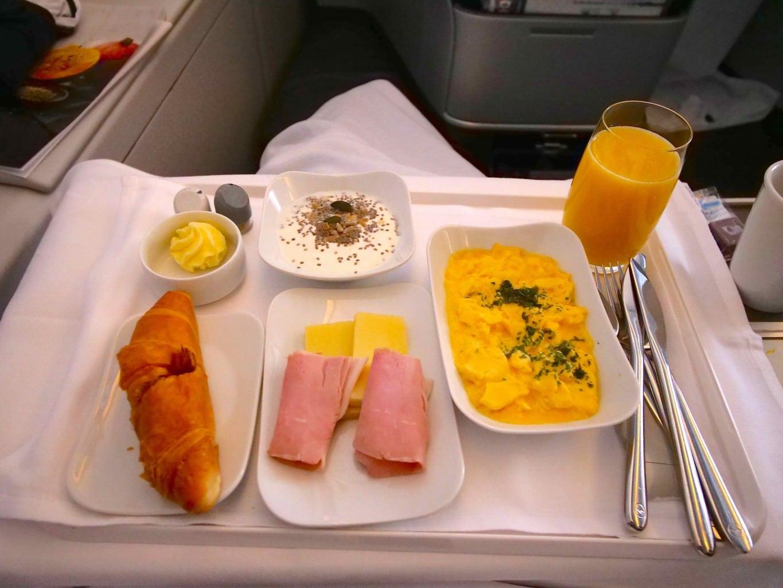 """'Breakfast onboard Lufthansa Business Class"""""""