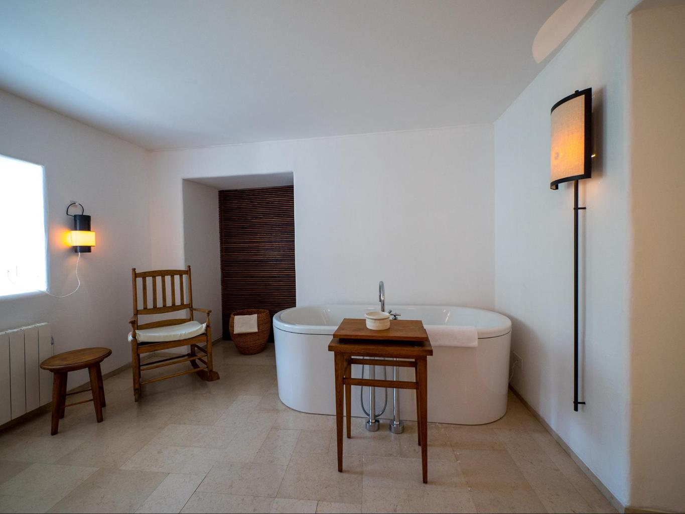 Free standing bathtub at Aman Sveti Stefan