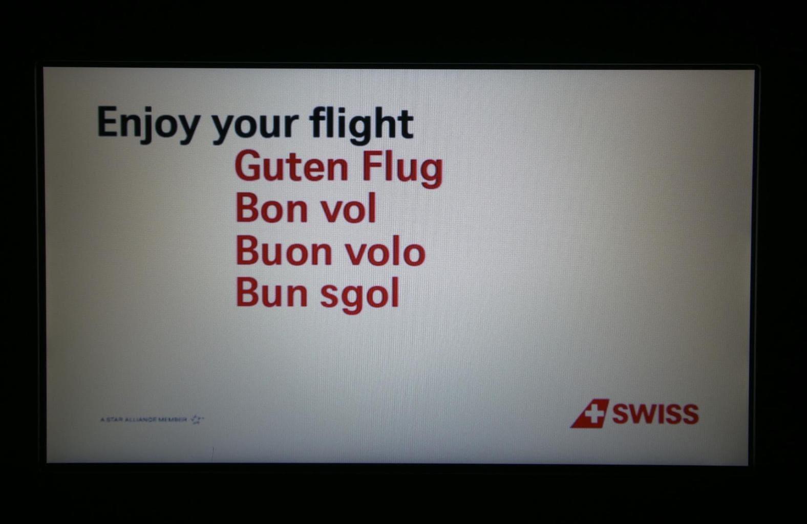 Multi language announcement on Swiss