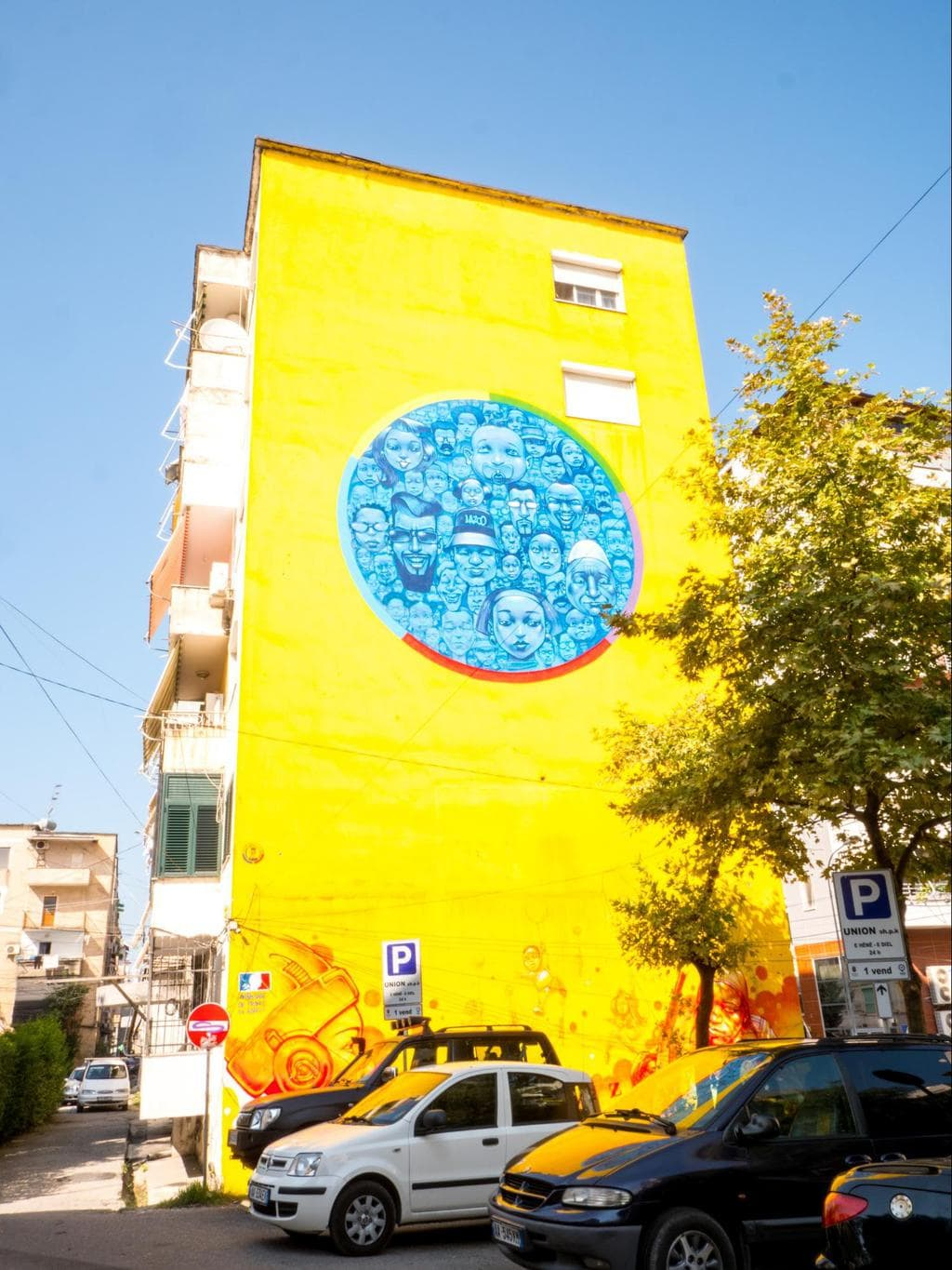 One of the many wall murals in Blloku