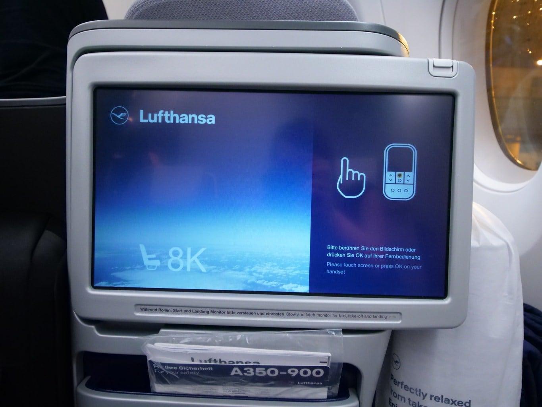 """""""Business Class entertainment system Lufthansa"""""""
