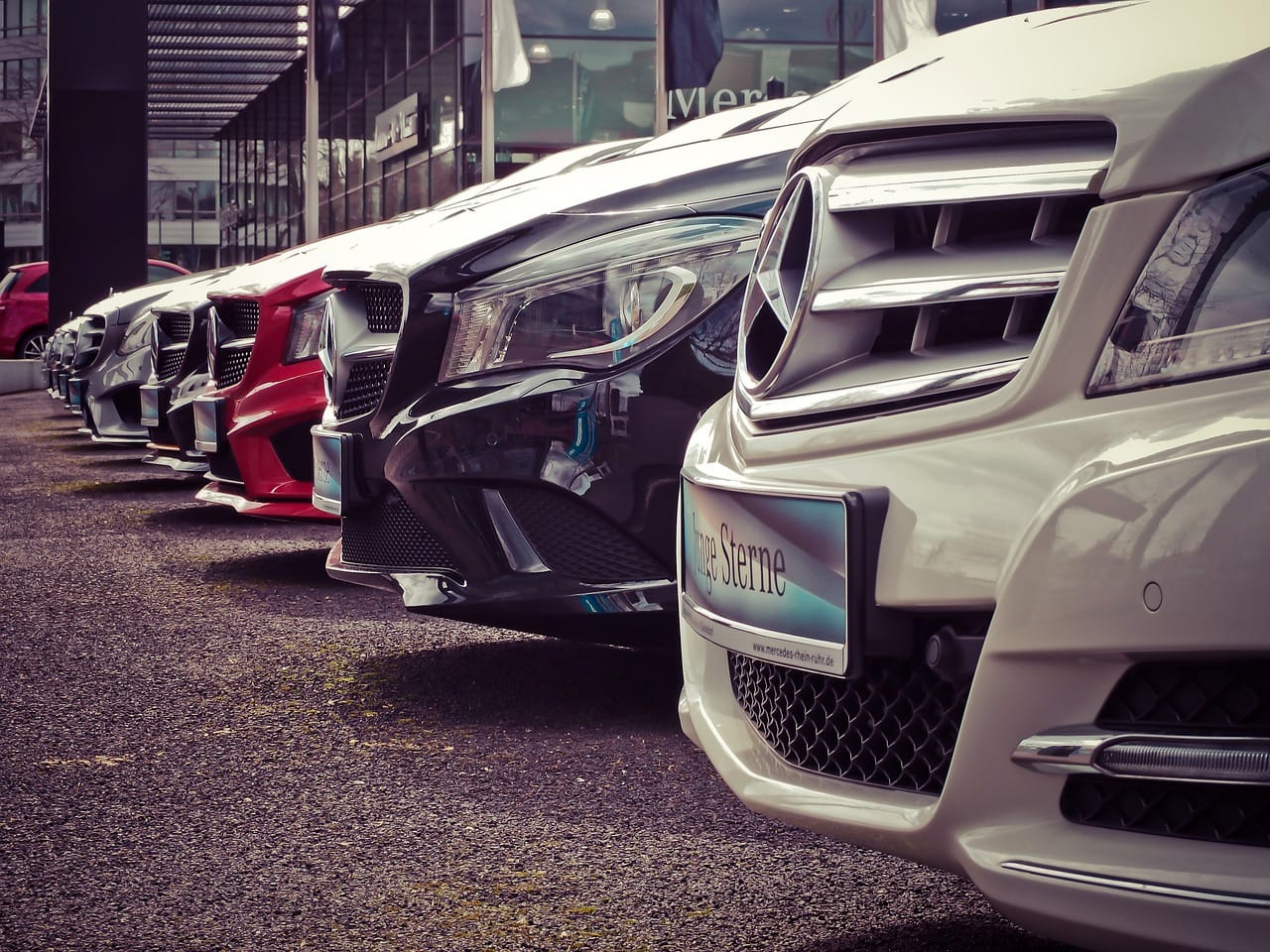 Several Mercedes models