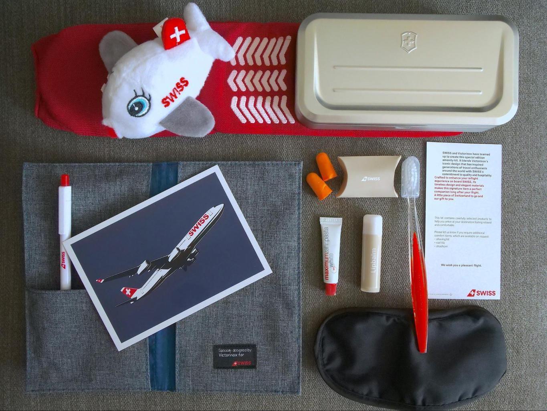 Swiss Business Class amenity kit