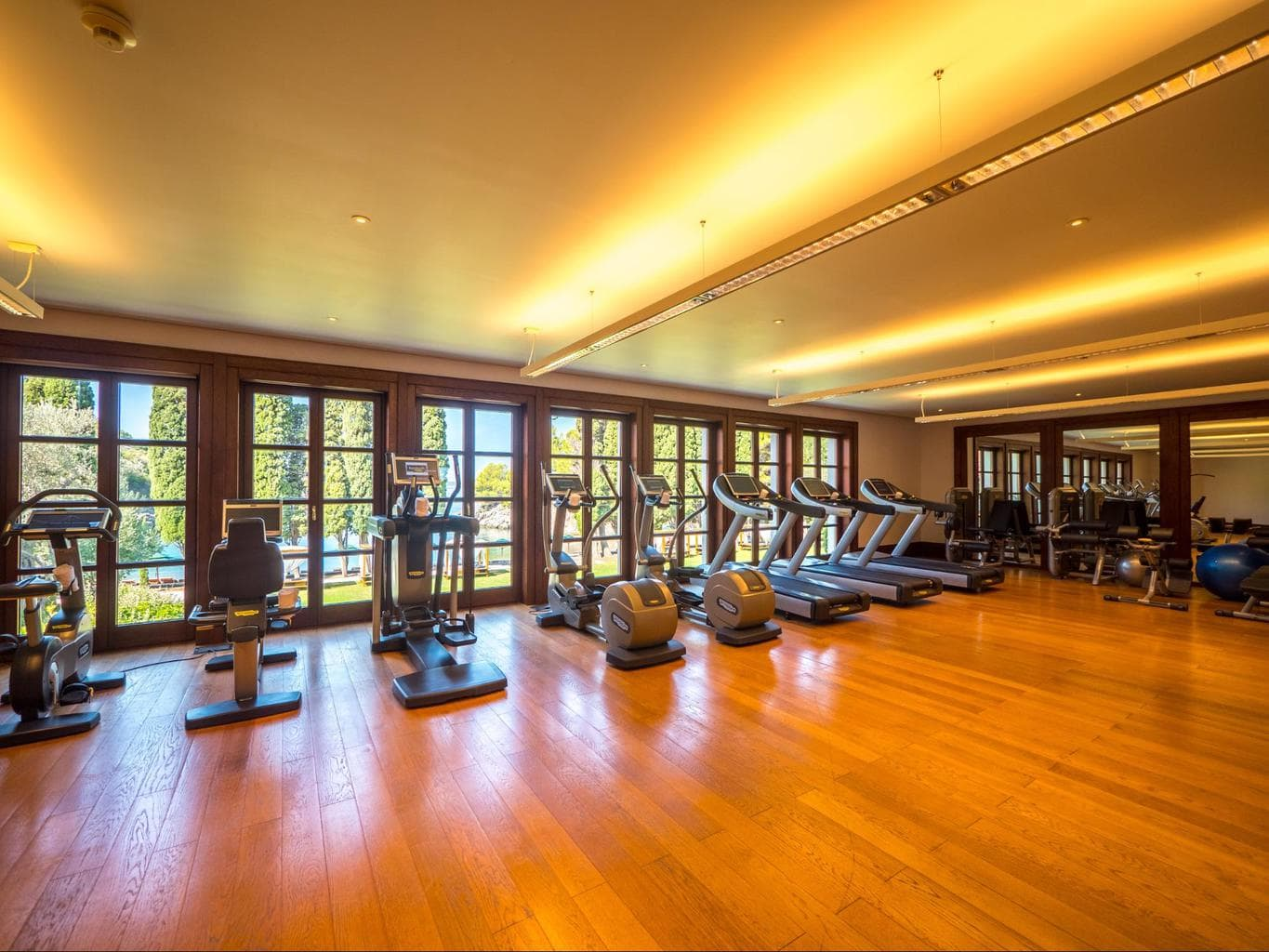 The gym at Aman Sveti Stefan