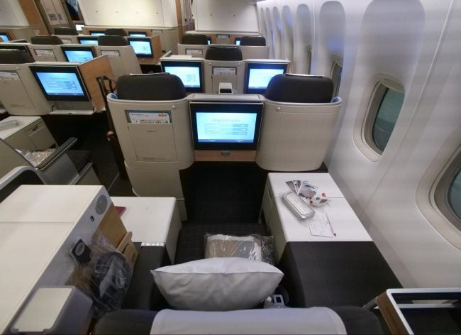 Throne seats on Swiss Business Class from the back
