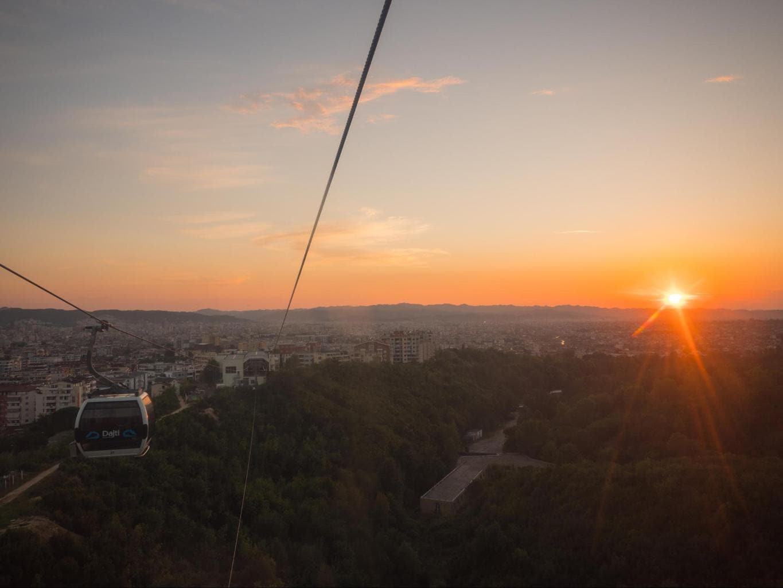 Tirana below from Dajti Ekspres cable car