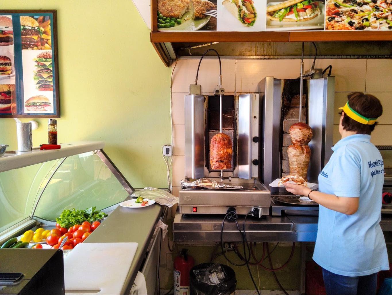 Turkish style kebab in Berat