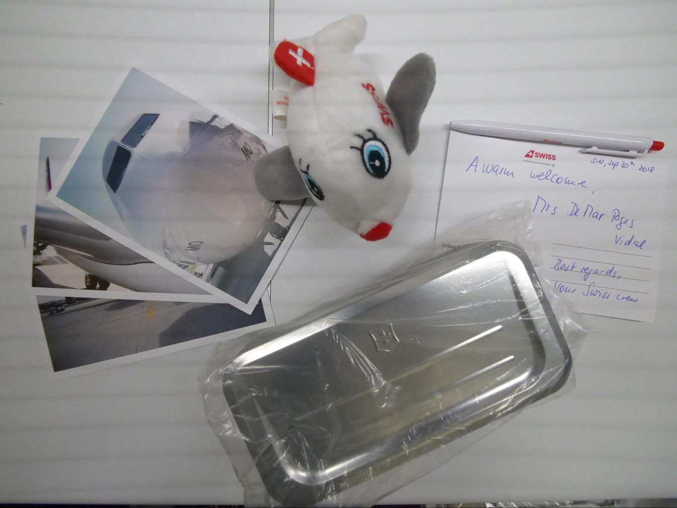 Welcome letter and gift when boarding