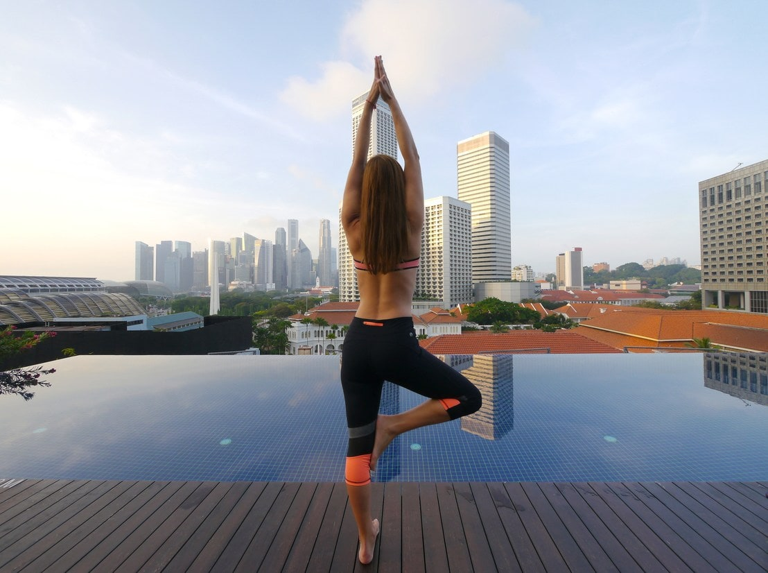 Yoga at Naumi pool