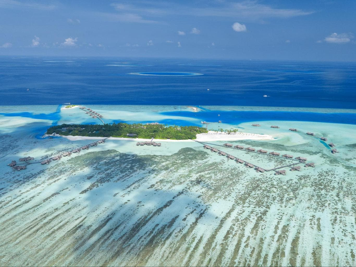 Aerial shot of Gili - Courtesy of Gili Lankanfushi