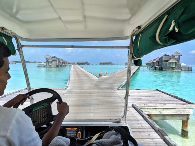 Arrival buggy ride to the villa